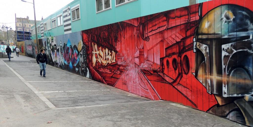 Fresque chantier St Anne